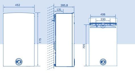 Dimensions chauffe-eau Ondéa Compact